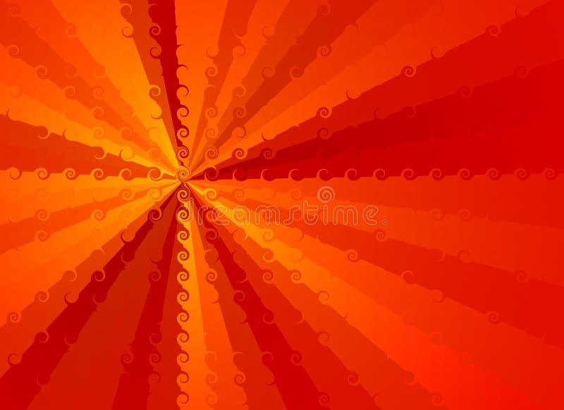 Roter Hintergrund mit abstraktem Muster lizenzfreie abbildung