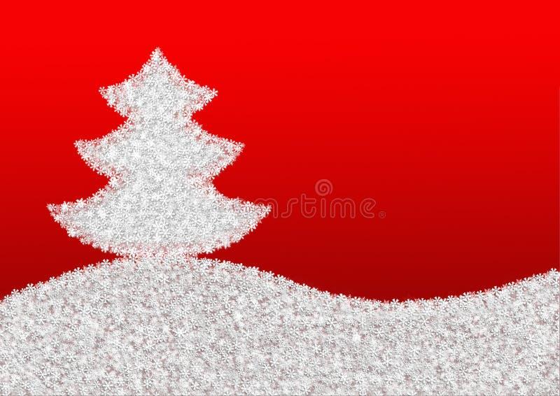 roter hintergrund mit einem weihnachtsbaum gemacht von den. Black Bedroom Furniture Sets. Home Design Ideas