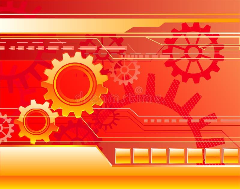 Roter Hintergrund mit Gängen lizenzfreie abbildung