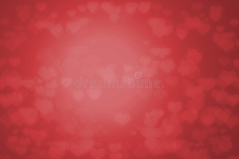 Roter Hintergrund mit Herzen lizenzfreie abbildung