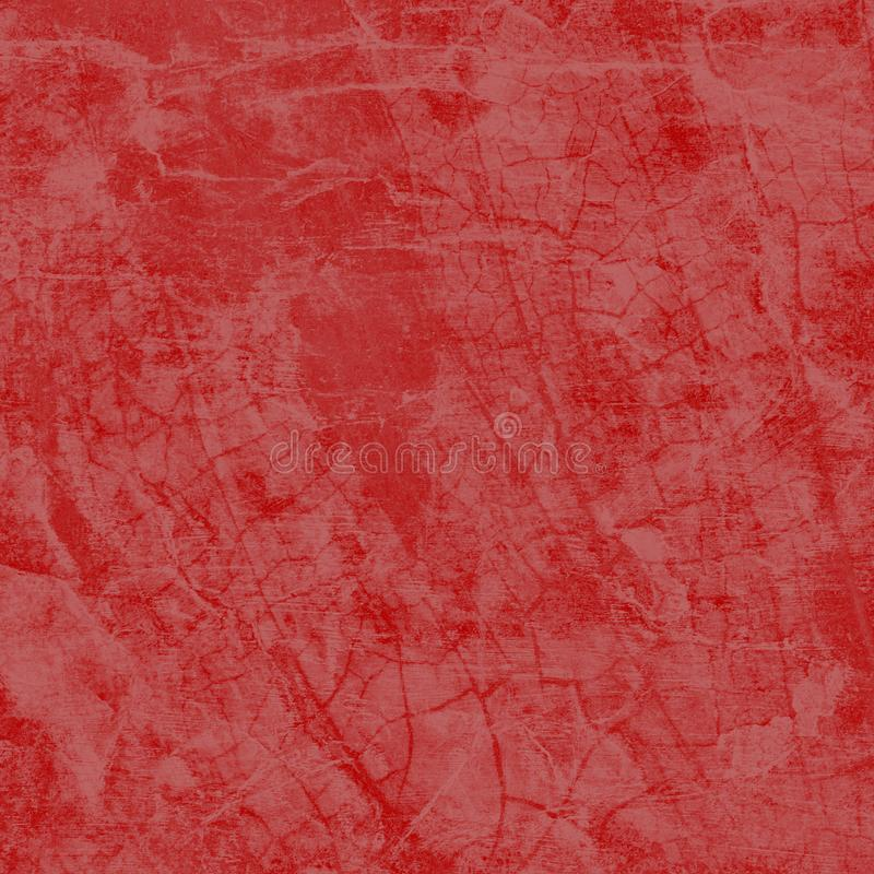 Roter Hintergrund mit knisternder Grunge-Textur, Rissen und gewinkeltem Weihnachtspapier mit texturiertem Hintergrund lizenzfreies stockfoto
