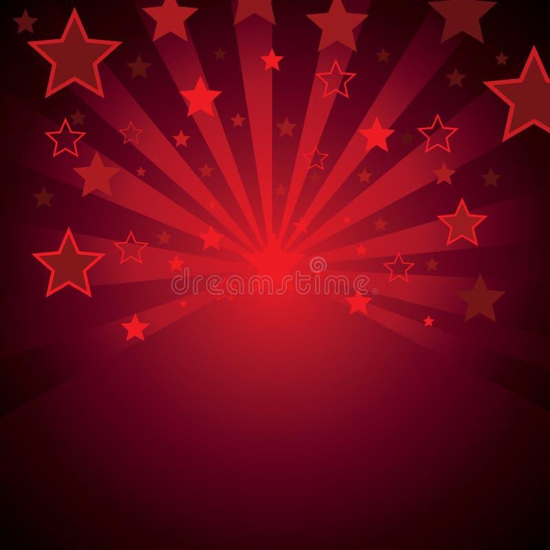 Roter Hintergrund mit Sternen vektor abbildung