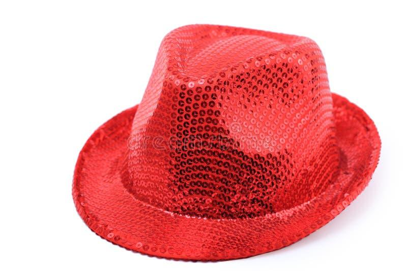 Roter Hut getrennt stockbild