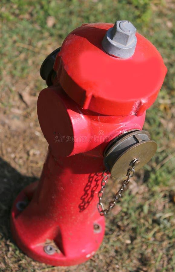roter Hydrant fotografiert von oben lizenzfreies stockfoto