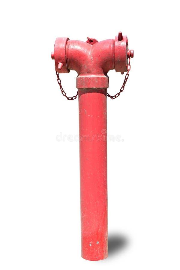 Roter Hydrant getrennt auf Weiß stockfotografie