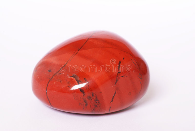 Roter Jaspisstein stockbilder