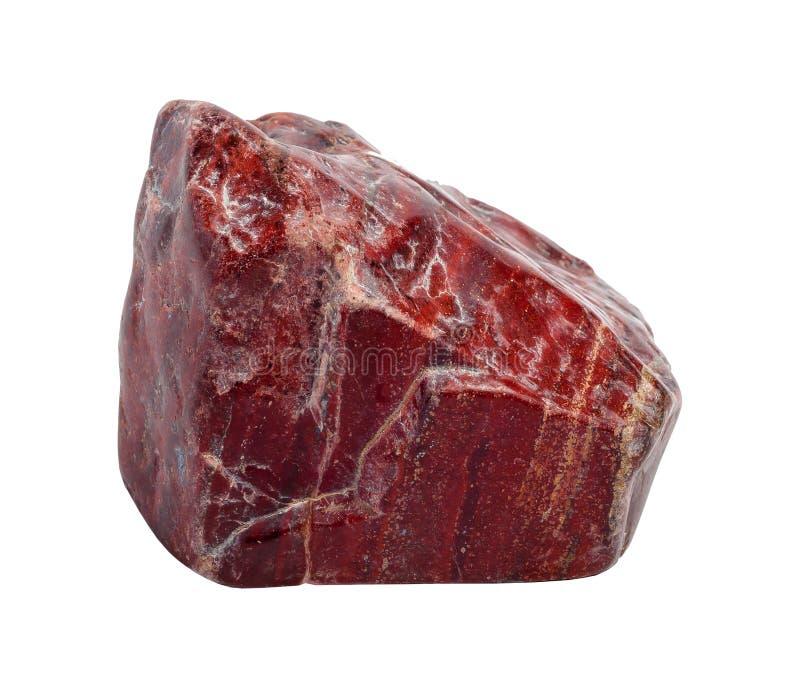 Roter Jaspisstein stockfoto