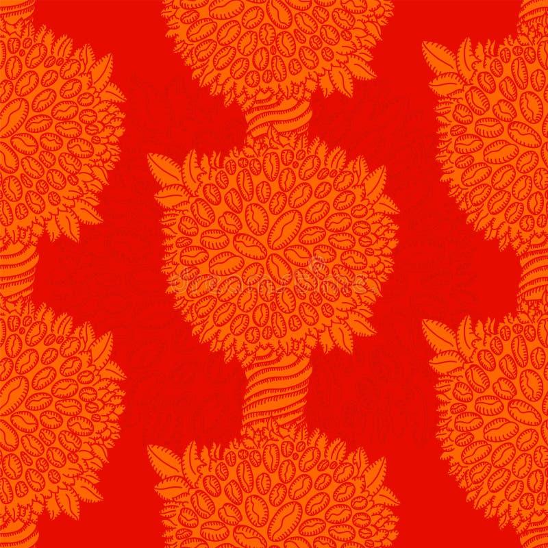 Roter Kaffeebaumgarten vektor abbildung