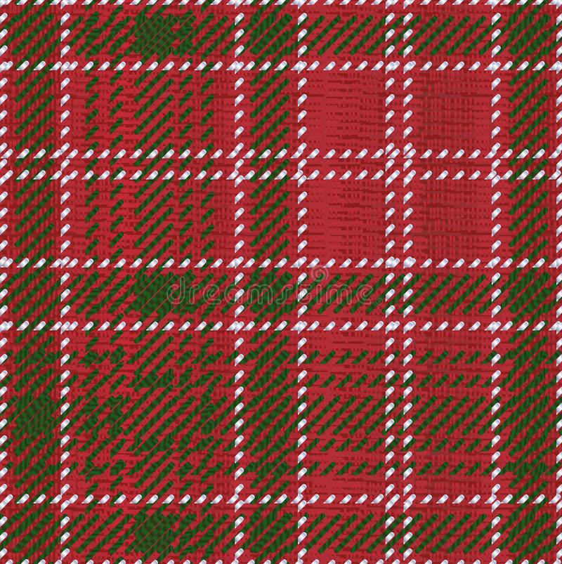 Roter Kilt-Schottenstoff lizenzfreie abbildung