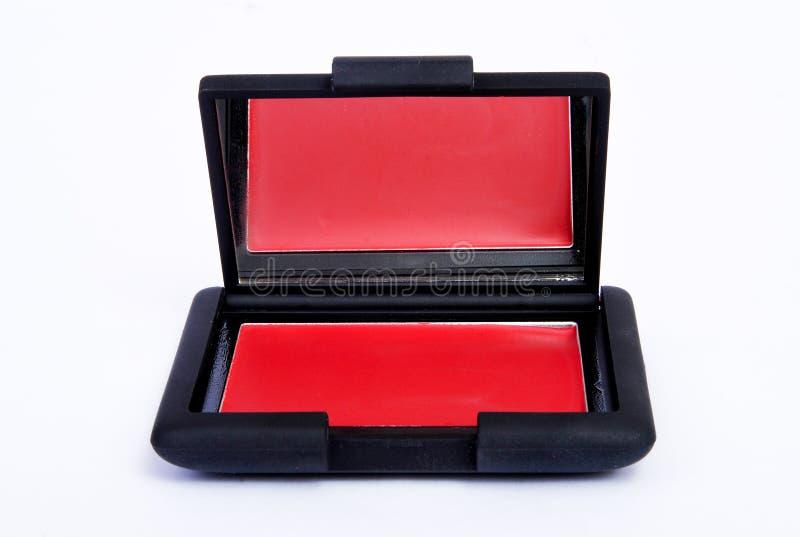 Roter klarer Farblippenstift bilden lizenzfreies stockbild