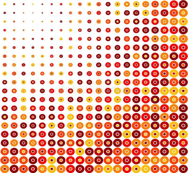 Roter Kreis-Retro- Hintergrund lizenzfreie abbildung