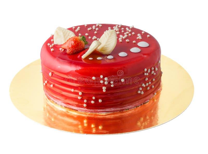 Roter Kuchen stockbild
