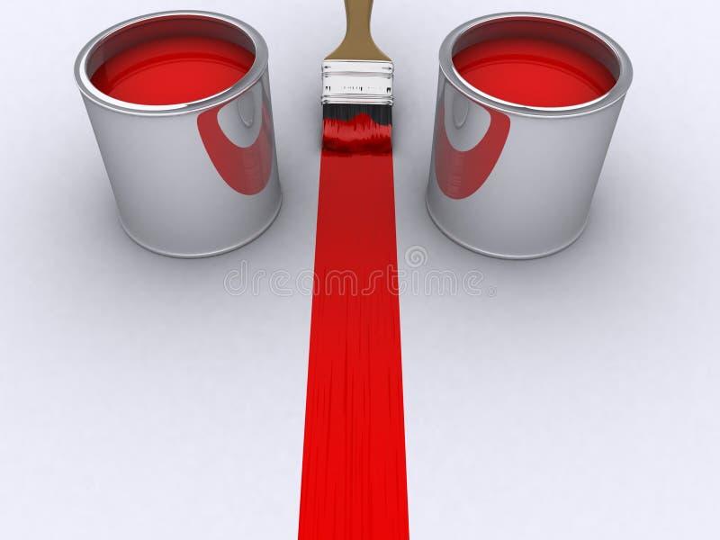 Roter Lack stock abbildung