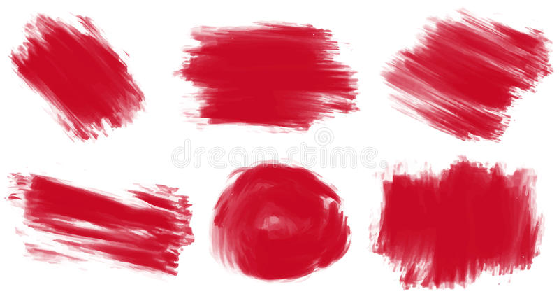 Roter Lack vektor abbildung