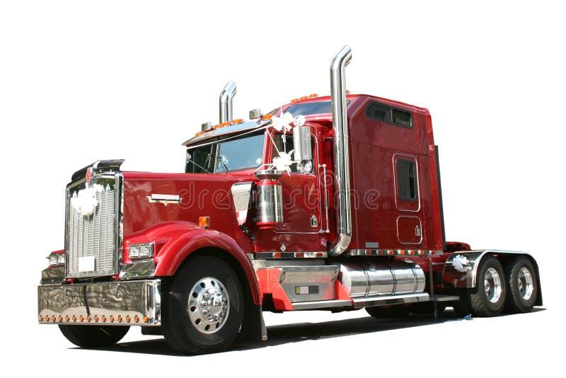Roter LKW lizenzfreies stockbild
