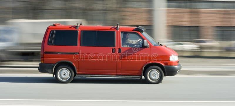 Roter LKW vancar (Lastwagen) lizenzfreie stockfotografie