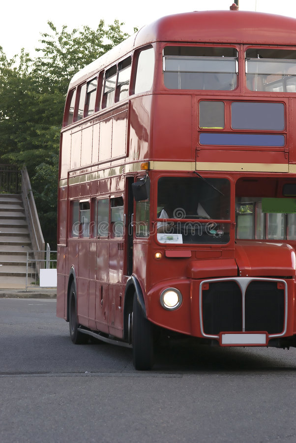 Roter London-Bus stockfoto