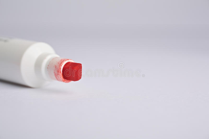 Roter Markierungstipp stockfotografie