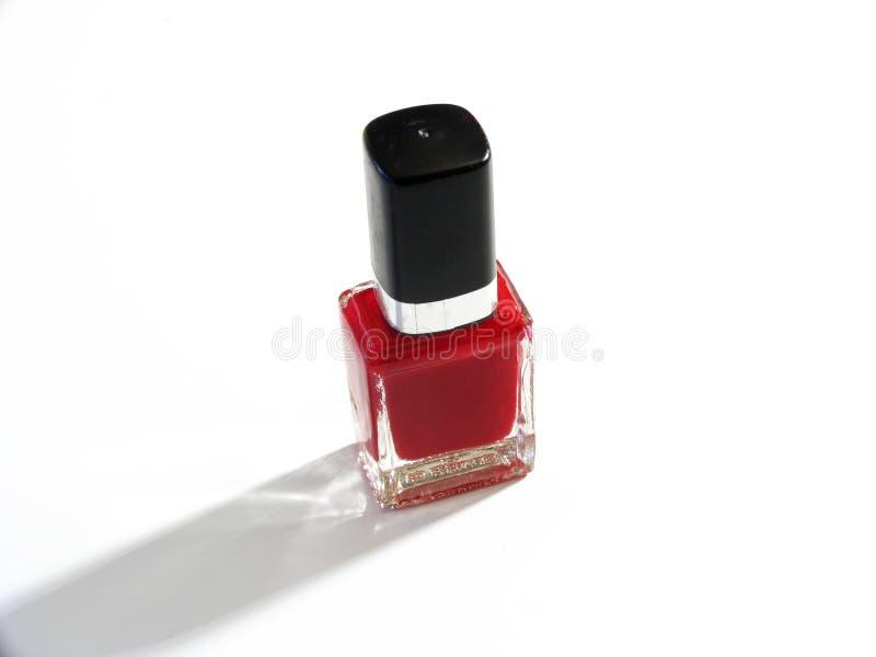 Roter Nagellack lizenzfreies stockfoto