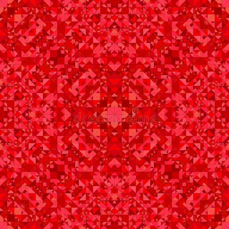 Roter nahtloser Kaleidoskopmusterhintergrund - ethnische Vektorgraphik der Zusammenfassung vektor abbildung