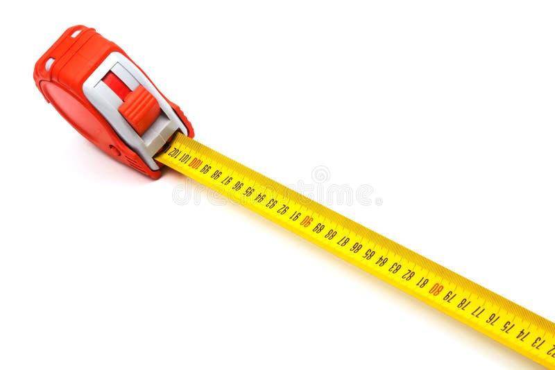 Roter neuer Tape-measure lizenzfreie stockfotos
