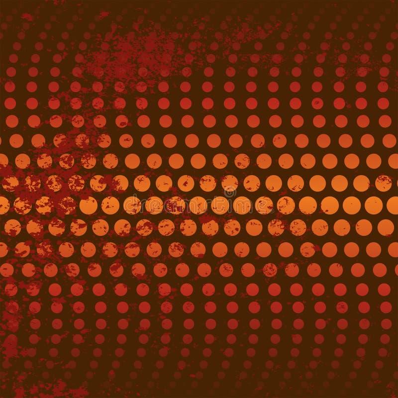 Roter/orange Kreis-Hintergrund vektor abbildung