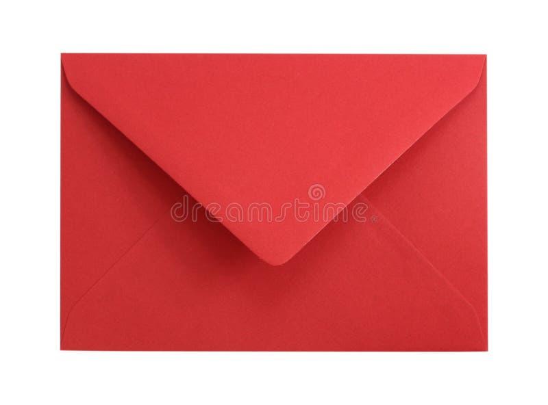 Roter Papierumschlag lizenzfreie stockfotos