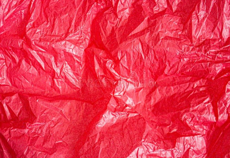 Roter Pergamentpapierhintergrund lizenzfreies stockfoto