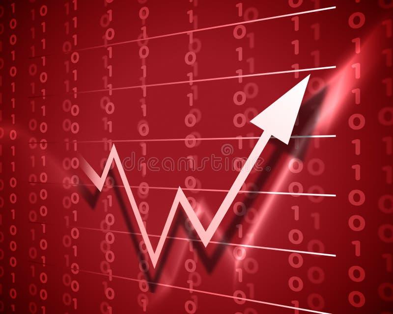 Roter Pfeil oben lizenzfreie abbildung