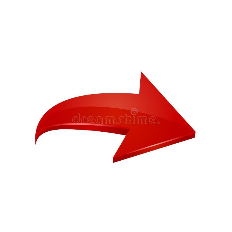 Roter Pfeil Vektor stock abbildung
