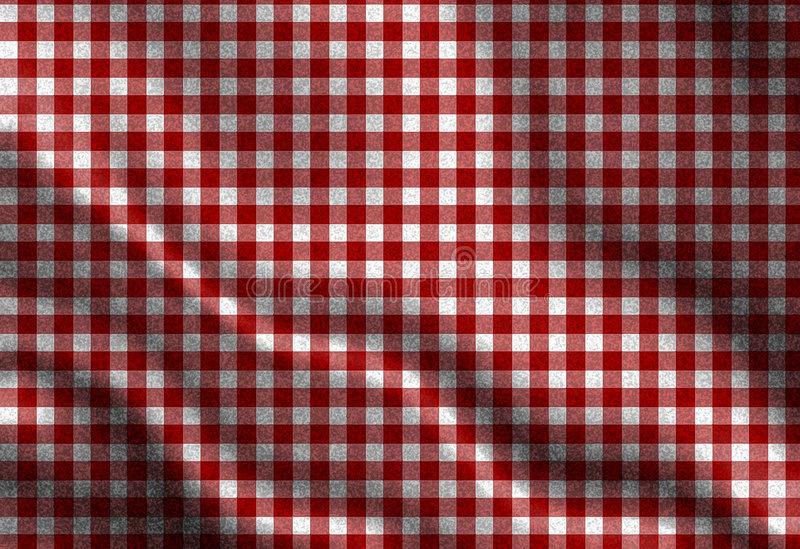 Roter Picknickstoff stock abbildung