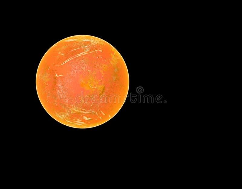 Roter Planet im Platz lizenzfreie abbildung