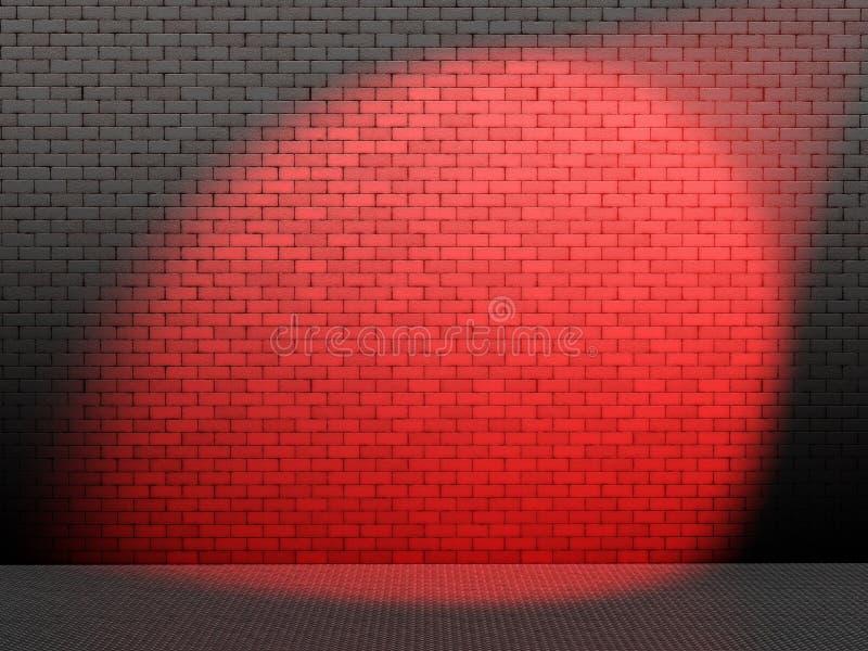 Roter Punkt auf Wand vektor abbildung