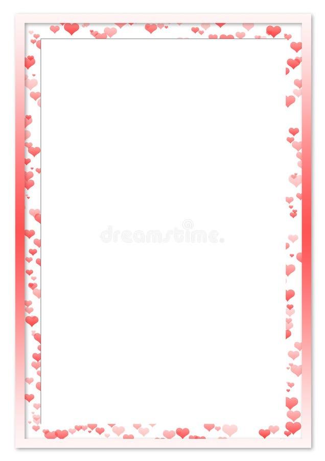 Roter Rahmen Der Liebe Für Foto Stock Abbildung - Illustration von ...