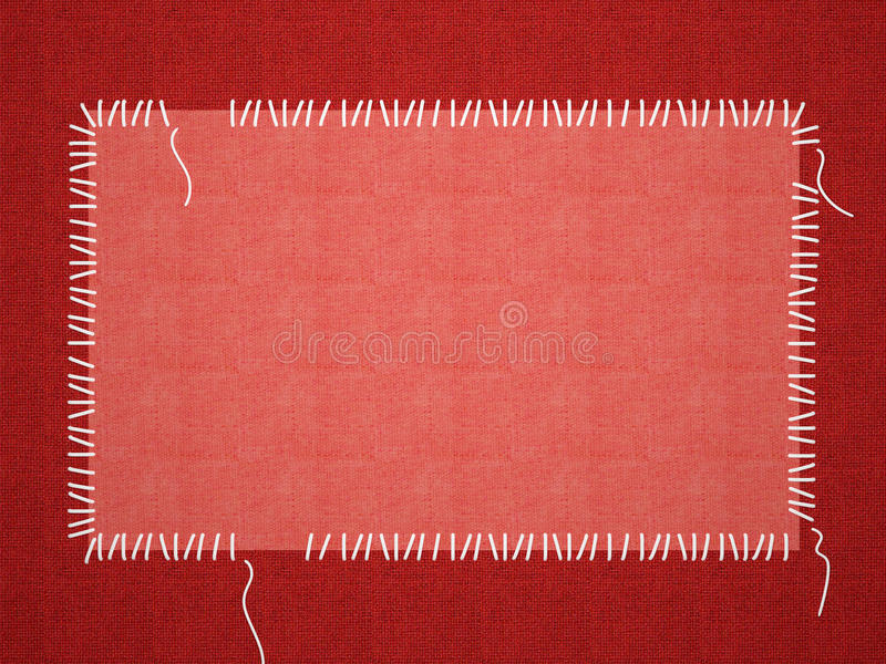 Roter Rahmen für ein Foto oder Einladungen. stock abbildung