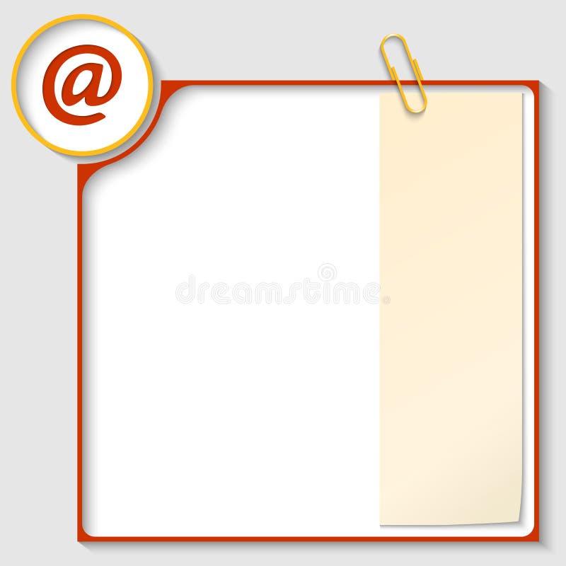 Roter Rahmen Für Text Mit Einer E-Mail-Ikone Vektor Abbildung ...