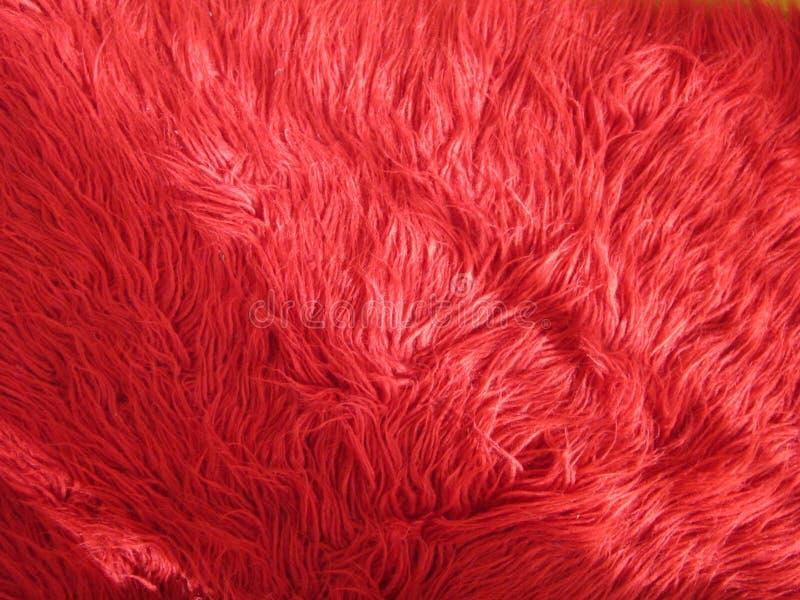Roter rauhaariger Teppich lizenzfreie stockfotografie