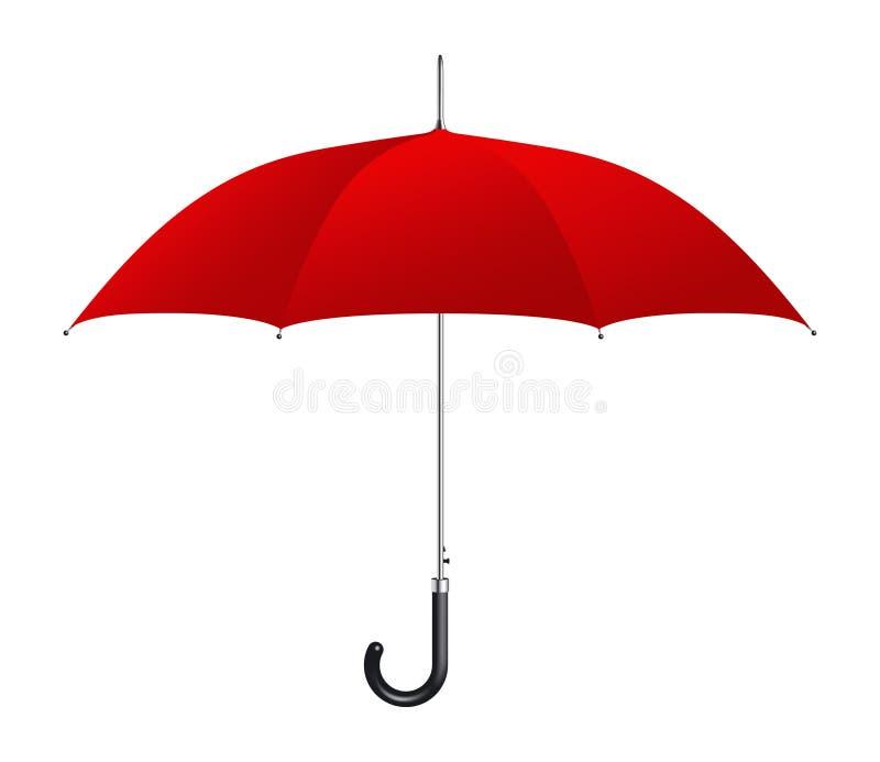 Roter Regenschirm stock abbildung
