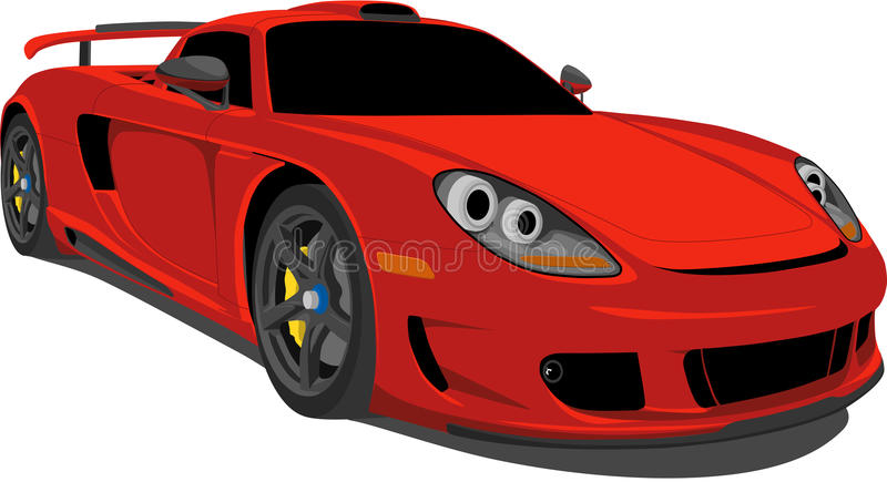 Roter Rennwagen stock abbildung