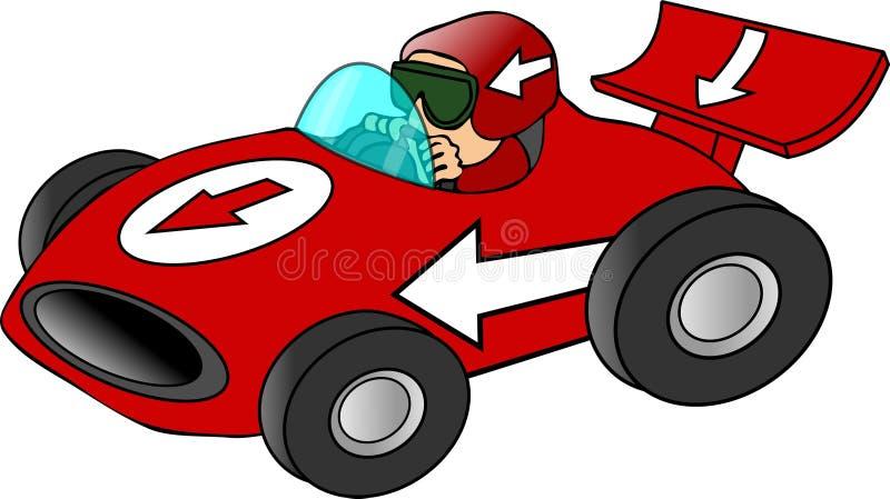 Roter Rennwagen lizenzfreie abbildung