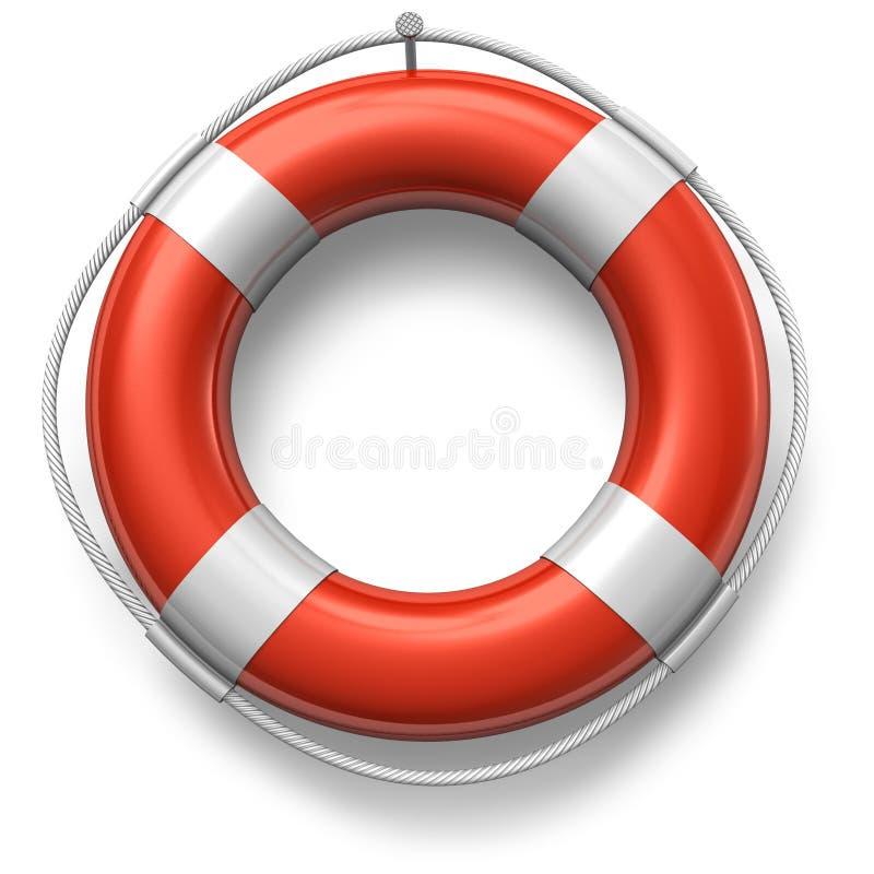 Roter Rettungsgürtel stock abbildung