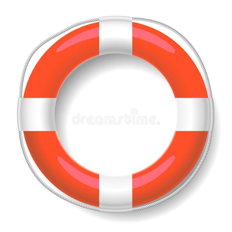 Roter Rettungsgürtel vektor abbildung