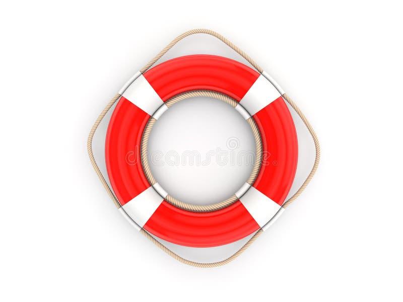Roter Rettungsgürtel 3d stock abbildung