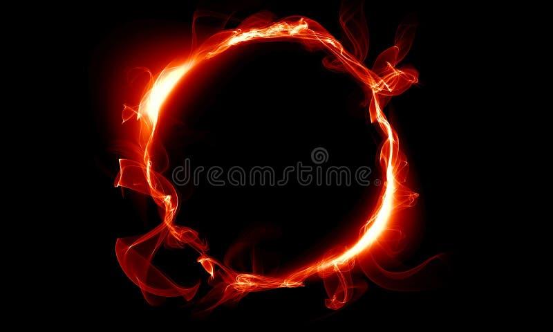 Roter Ring, der aus einem Rauche besteht Die magische Sache phantasie vektor abbildung