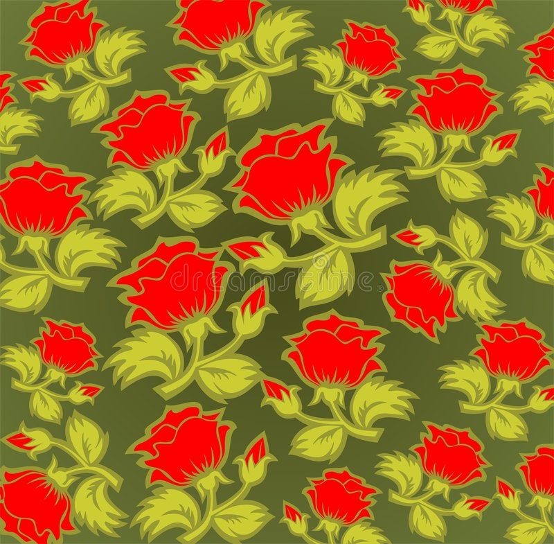 Roter Rosehintergrund lizenzfreie abbildung