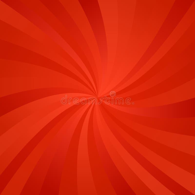 Roter Rotationshintergrund lizenzfreie abbildung