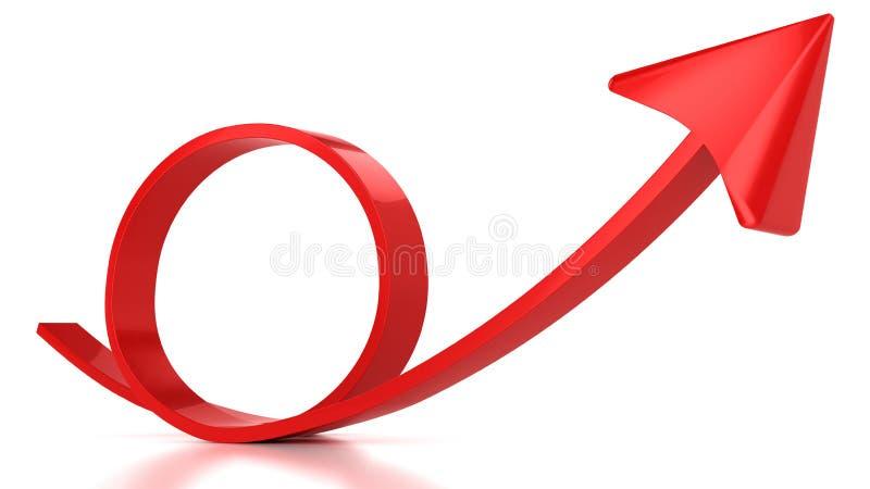 Roter runder Pfeil lizenzfreie abbildung