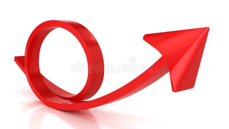 Roter runder Pfeil stock abbildung