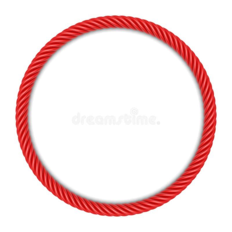 Roter Rundseilrahmen lizenzfreie abbildung
