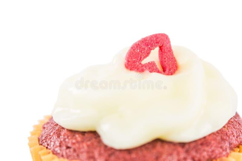 Roter Samt-kleiner Kuchen III stockbild